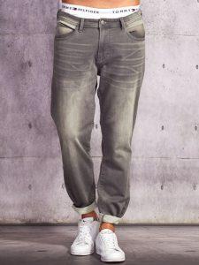 Szare jeansy męskie