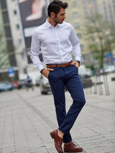 spodnie z materiału męskie