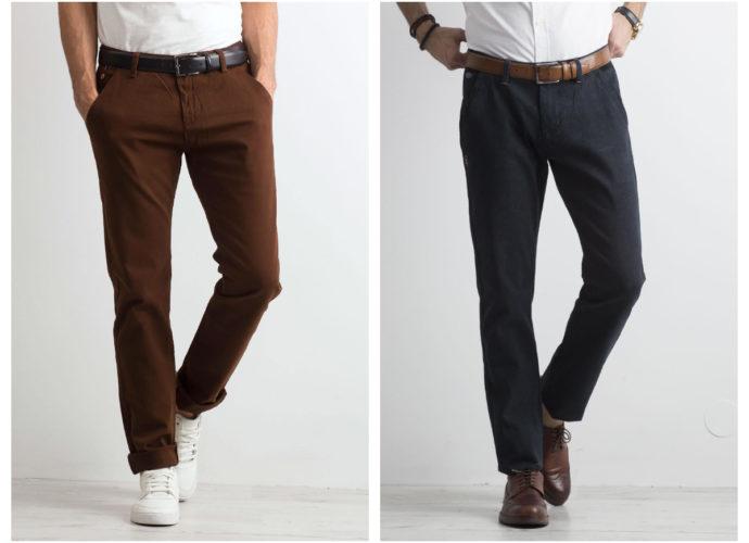 Eleganckie czarne spodnie męskie