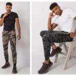 Modne męskie spodnie na lato we wzory