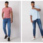 jeansy basic dla mężczyzny ciemne