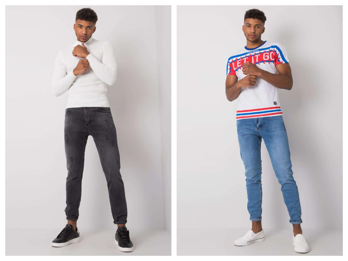 jeansy basic dla mężczyzny czarne